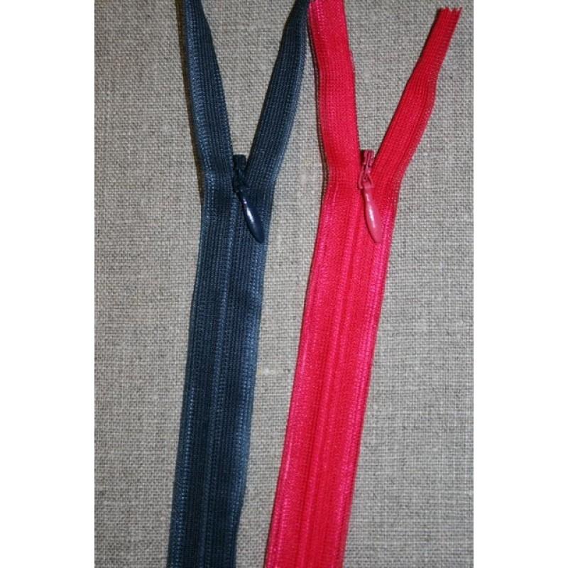 35 cm. usynlig lynlåse mørkeblå