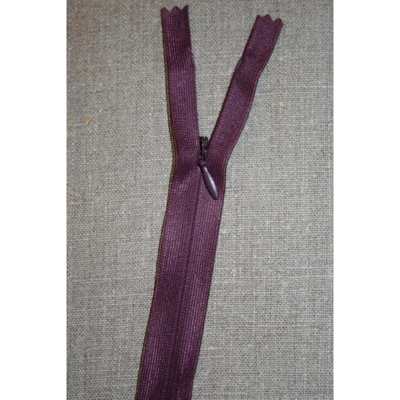 26 cm. usynlig lynlåse, lilla-31