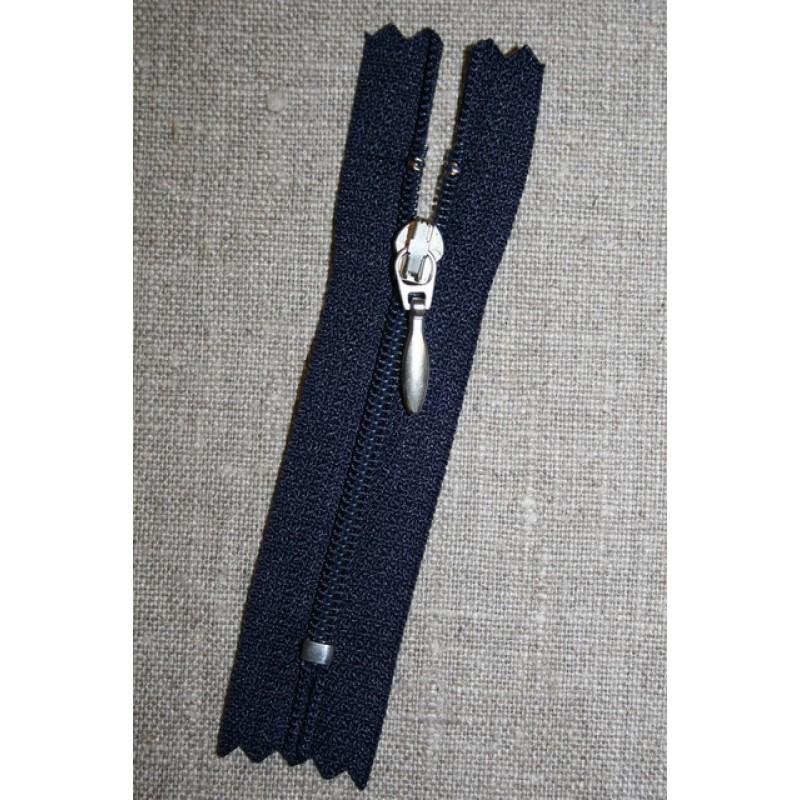 08 cm. lynlås mørkeblå/sølv