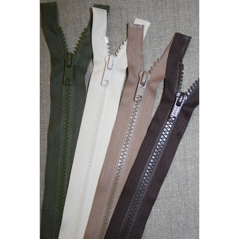 45-60 cm delbar plast lynlås