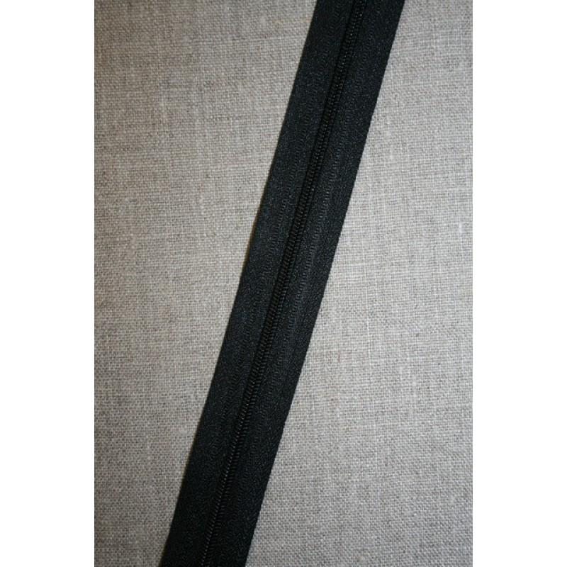 Lynlås i metermål, sort-31