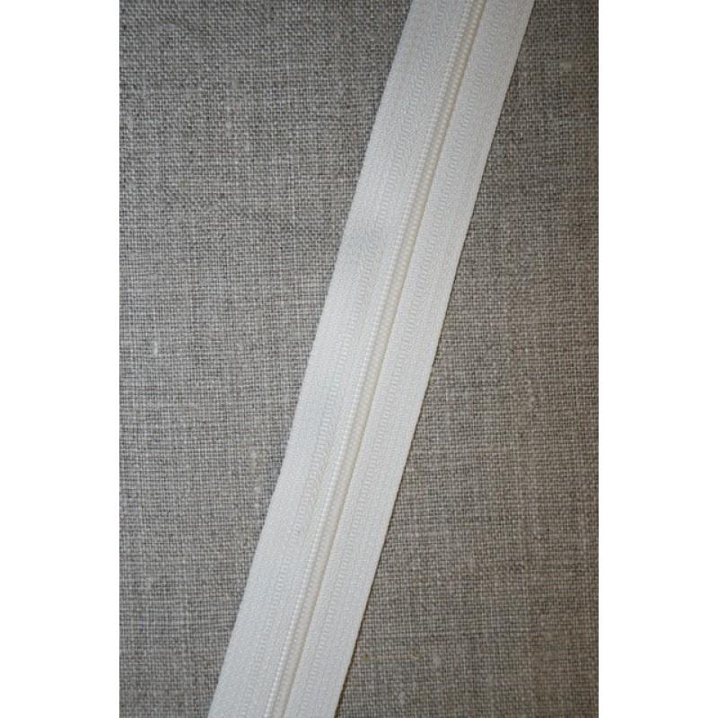 Lynlås i metermål, off-white/ecru