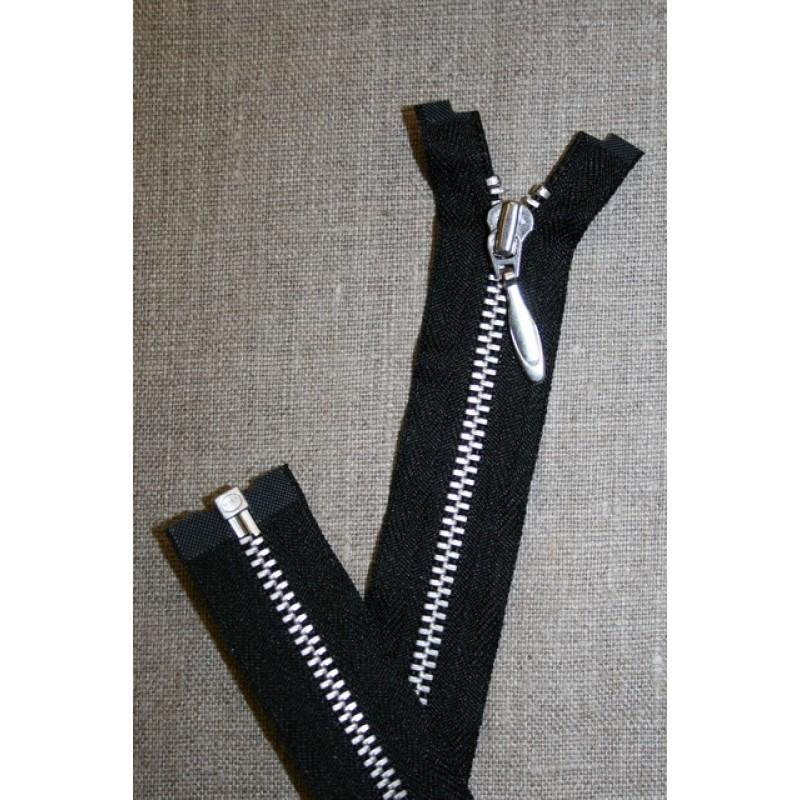 16 cm. delbar lynlås i sort YKK m/dråbe-skyder-31