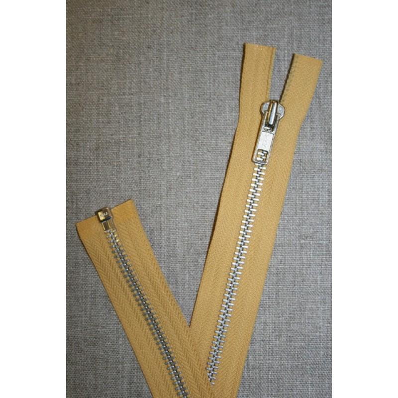 63 cm. metal lynlås støvet gul-31