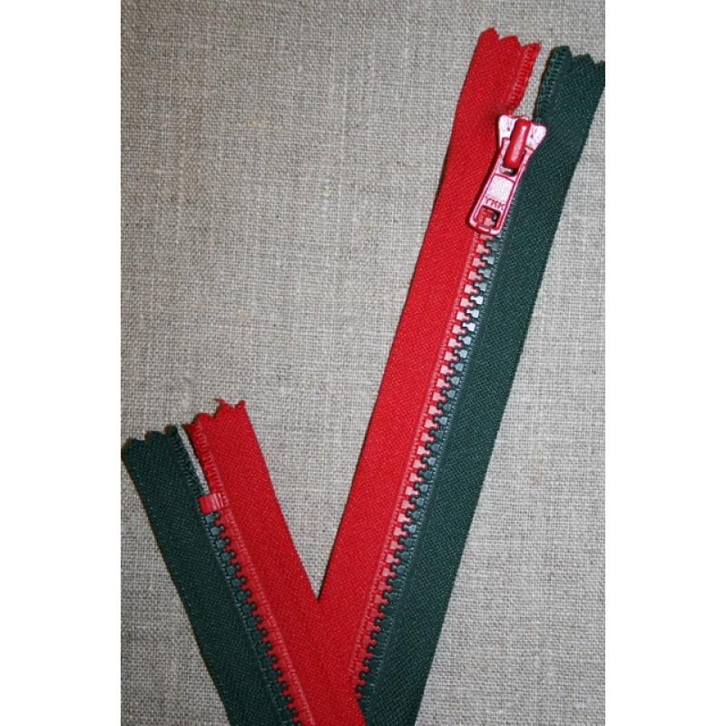 17 cm. lynlås rød/grøn