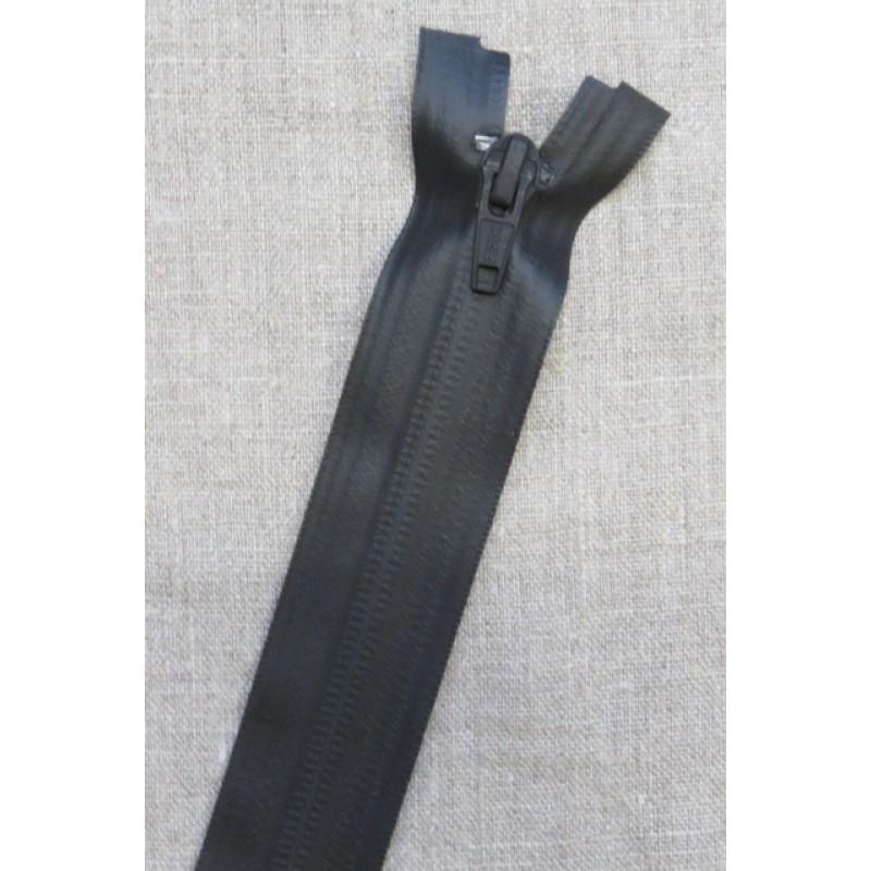 70 cm. vind/-vand afvisende delbar lynlås i sort fra YKK-31
