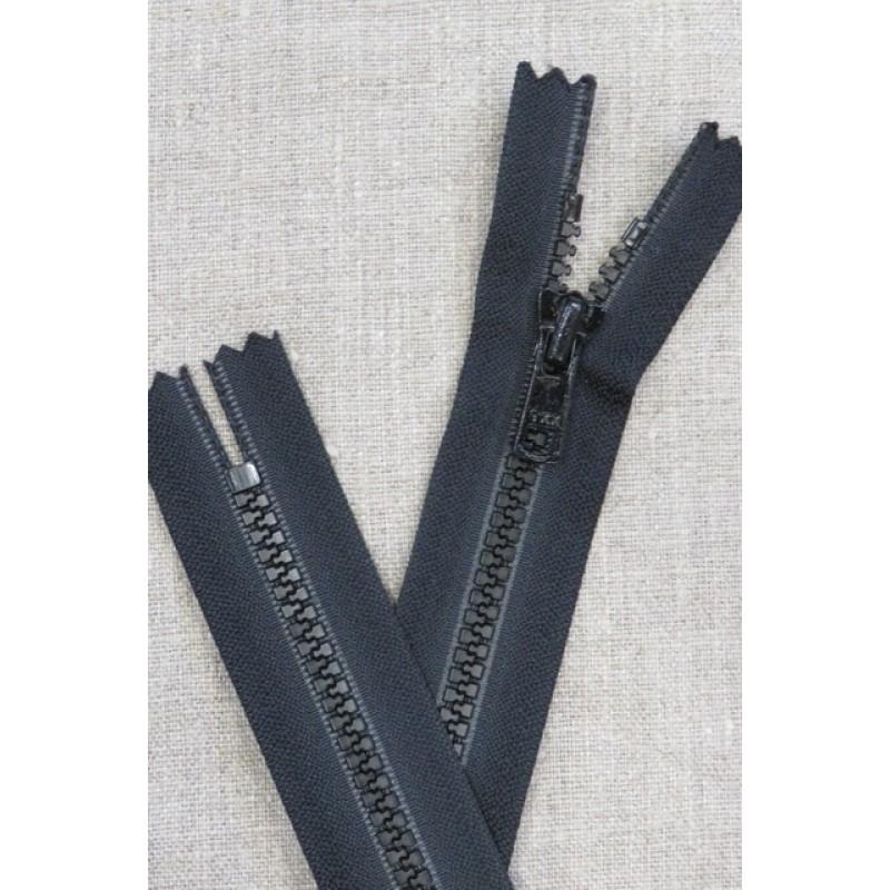 20 cm. plast lynlås sort 6 mm. lommelås-31