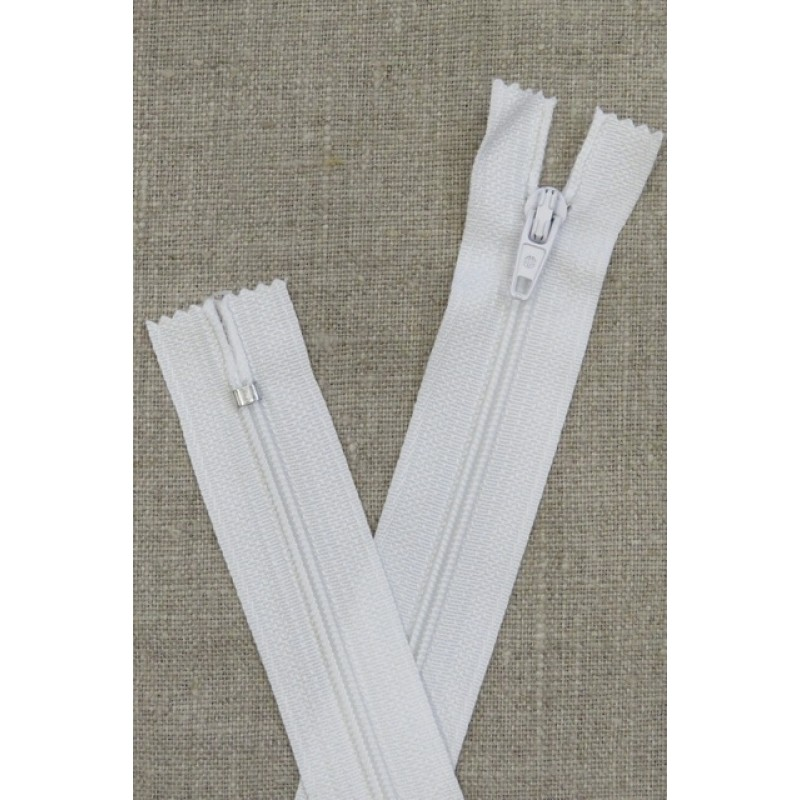 20 cm plast lynlås i hvid-32