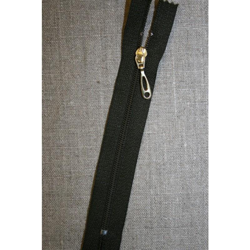 13 cm plast lynlås-guld vedhæng, army-35