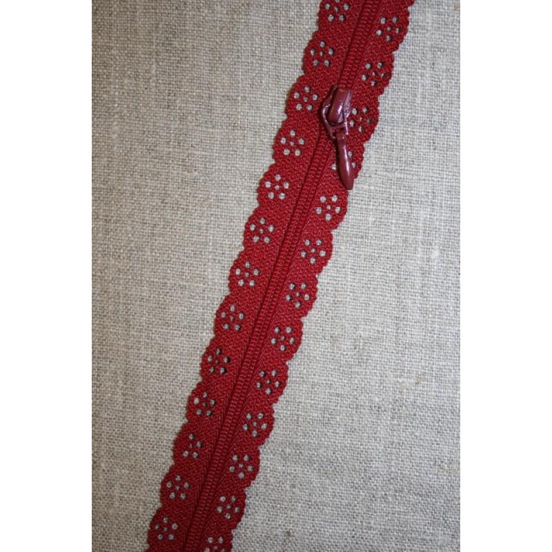 Blonde-lynlås i metermål, mørk rød-35