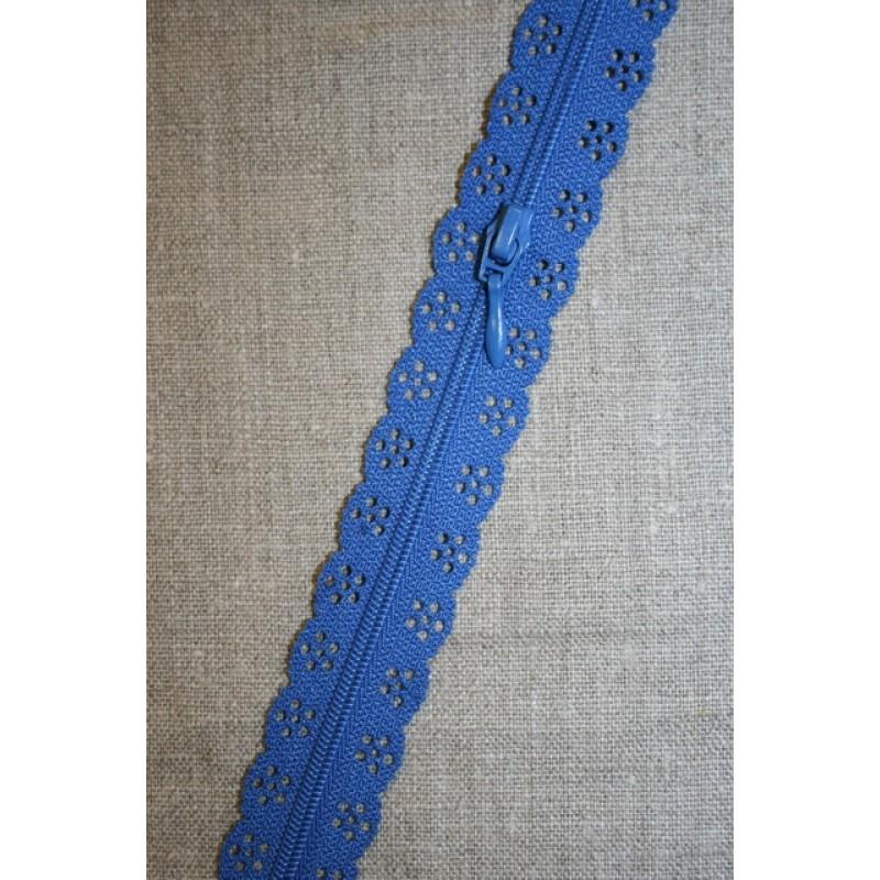 Rest Blonde-lynlås i metermål, koboltblå 82 cm.-35