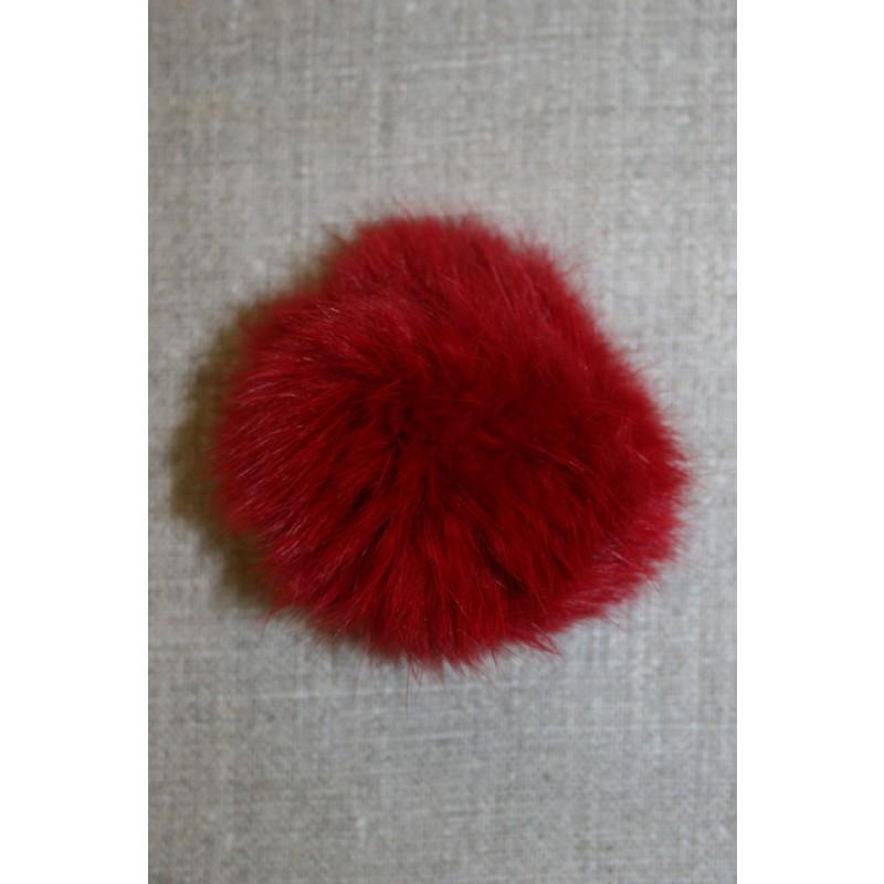 Pels-pompon af kanin, 6 cm. rød-31