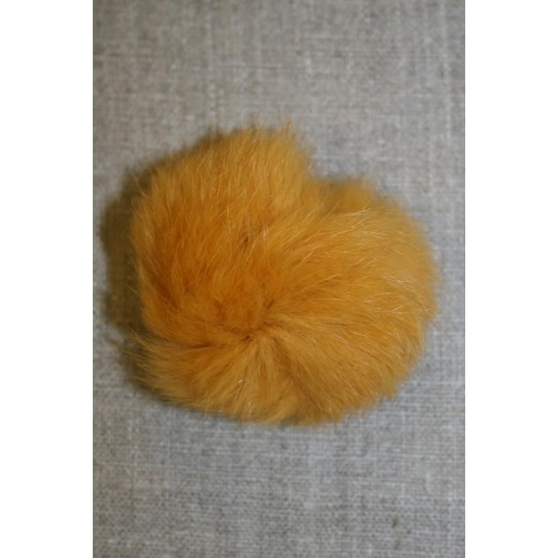 Pels-pompon af kanin, 6 cm. carry-gul