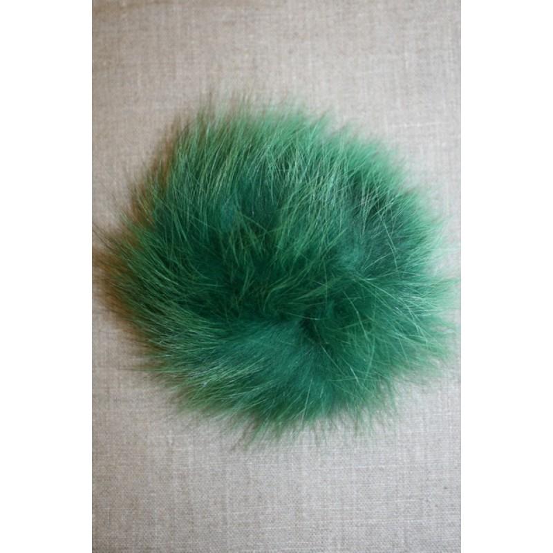 Pels-pompon af ræv, 10-12 cm. grøn-33