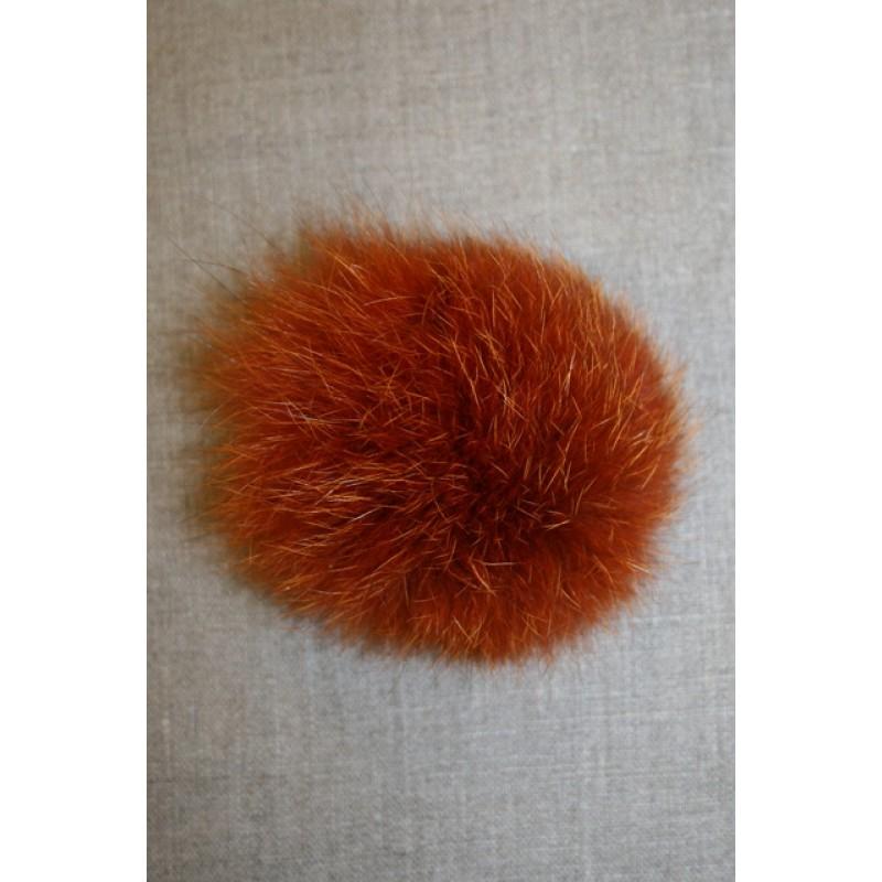 Pels-pompon af ræv, 10-12 cm. orange-33