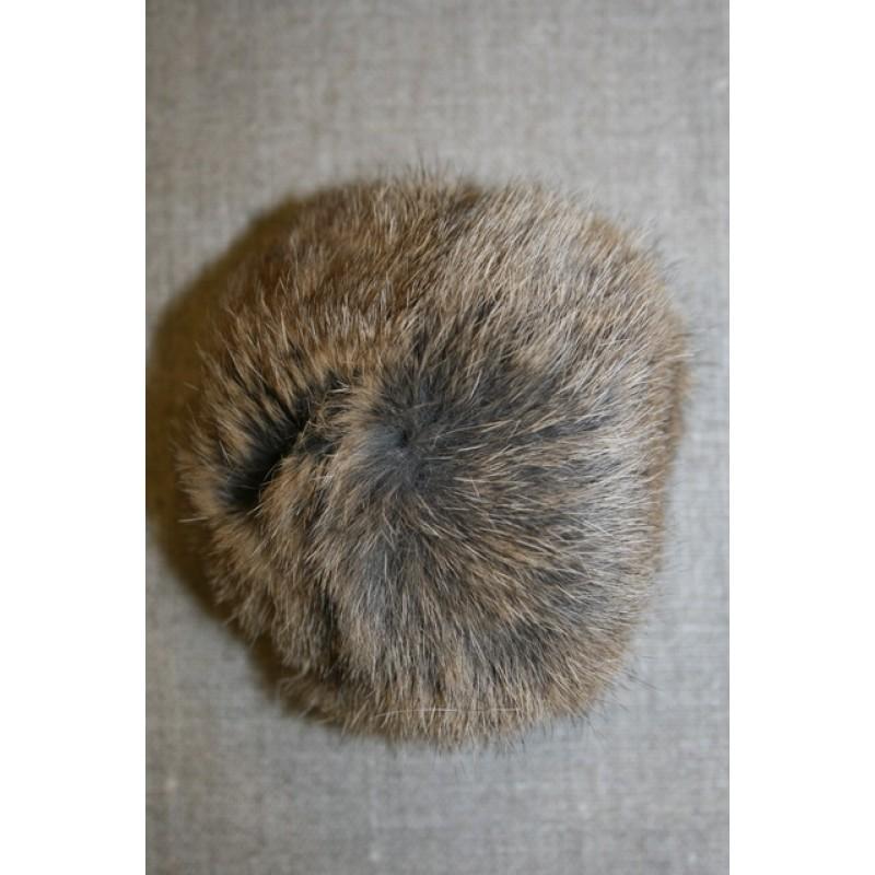 Pels-pompon af kanin, 100 mm. natur