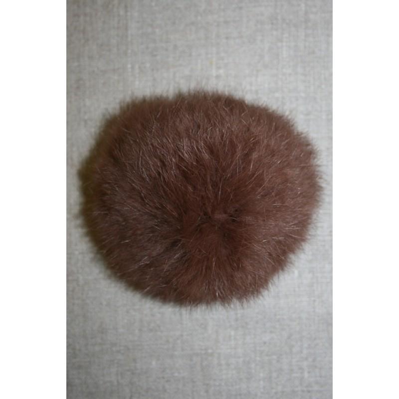 Pels-pompon af kanin, 100 mm. brun-31