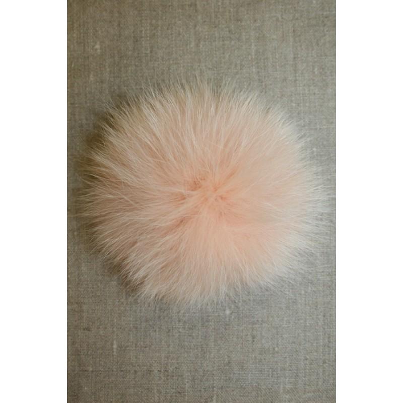 Pels-pompon af ræv, pudder 10 cm.-35