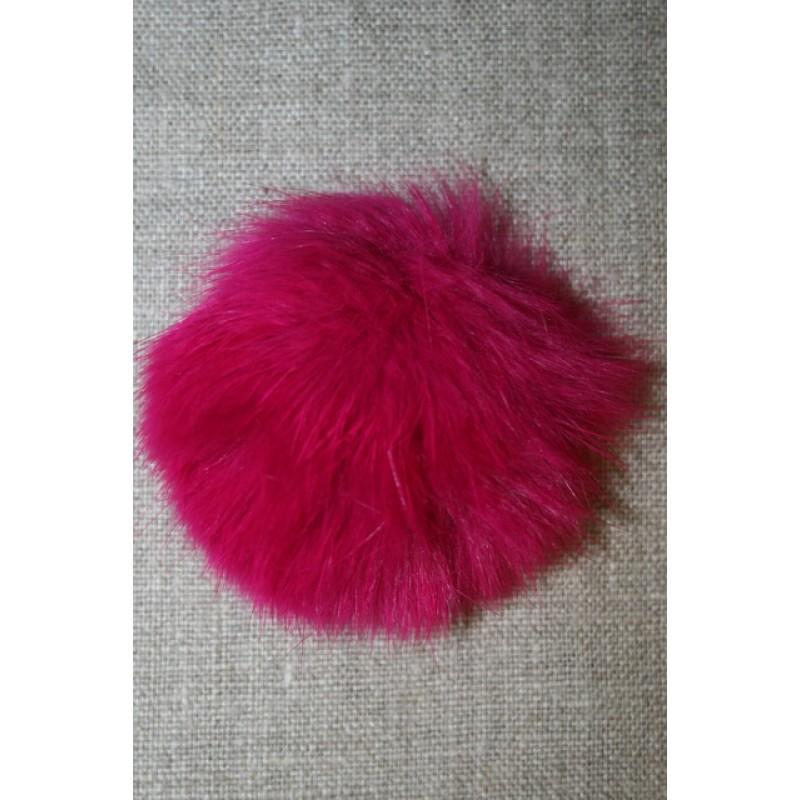 Pels-pompon af kanin, 6 cm. pink-35