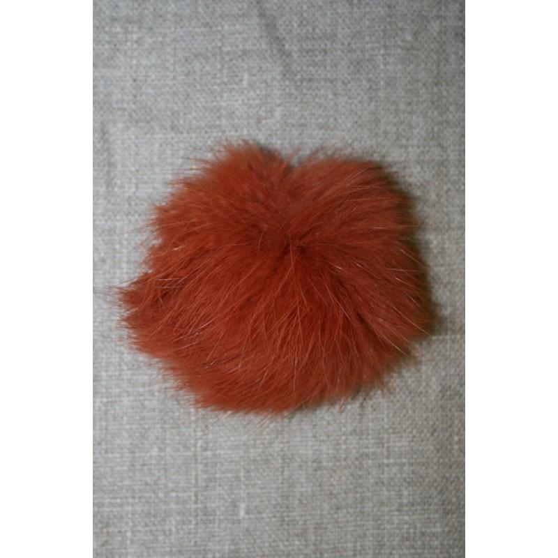 Pels-pompon af kanin, 6 cm. brændt orange-35