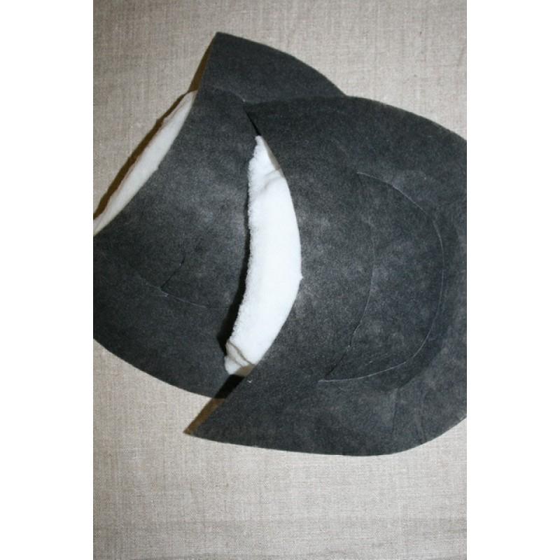 Skulderpude til frakke/jakke, sort