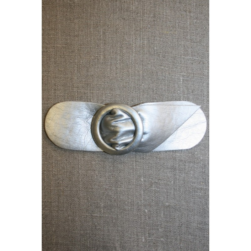 Bælte-lukning 40 mm. sølvgrå-31