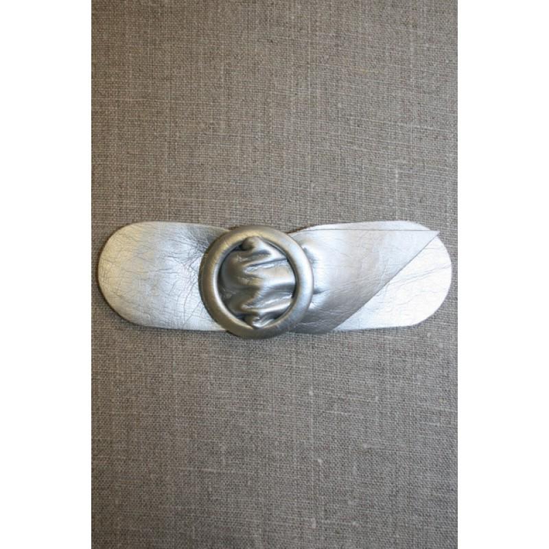 Bælte-lukning 40 mm. sølvgrå