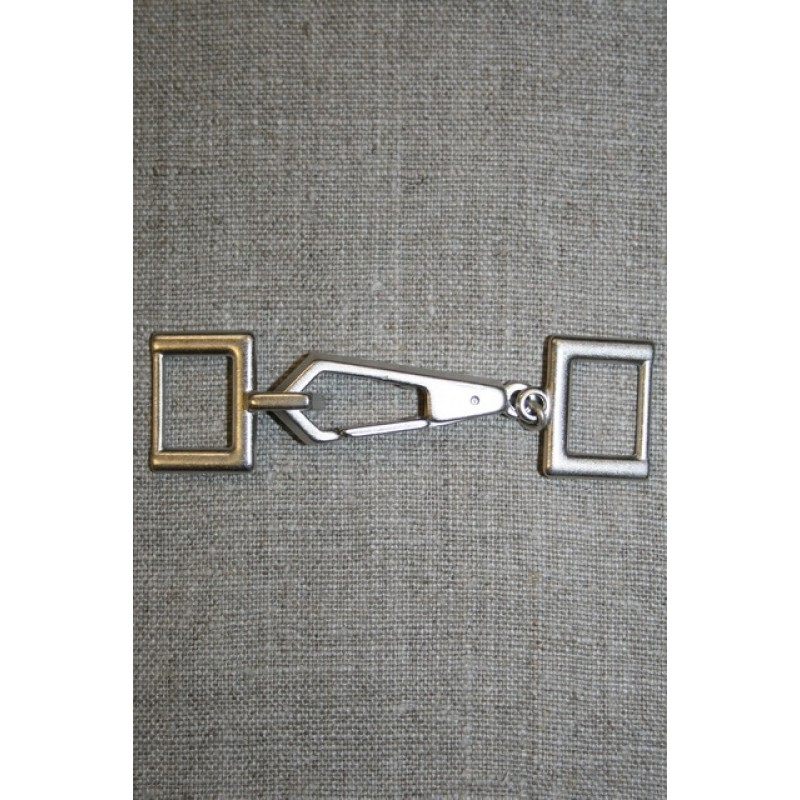 Lukning m/karabinhage, gl.sølv-33
