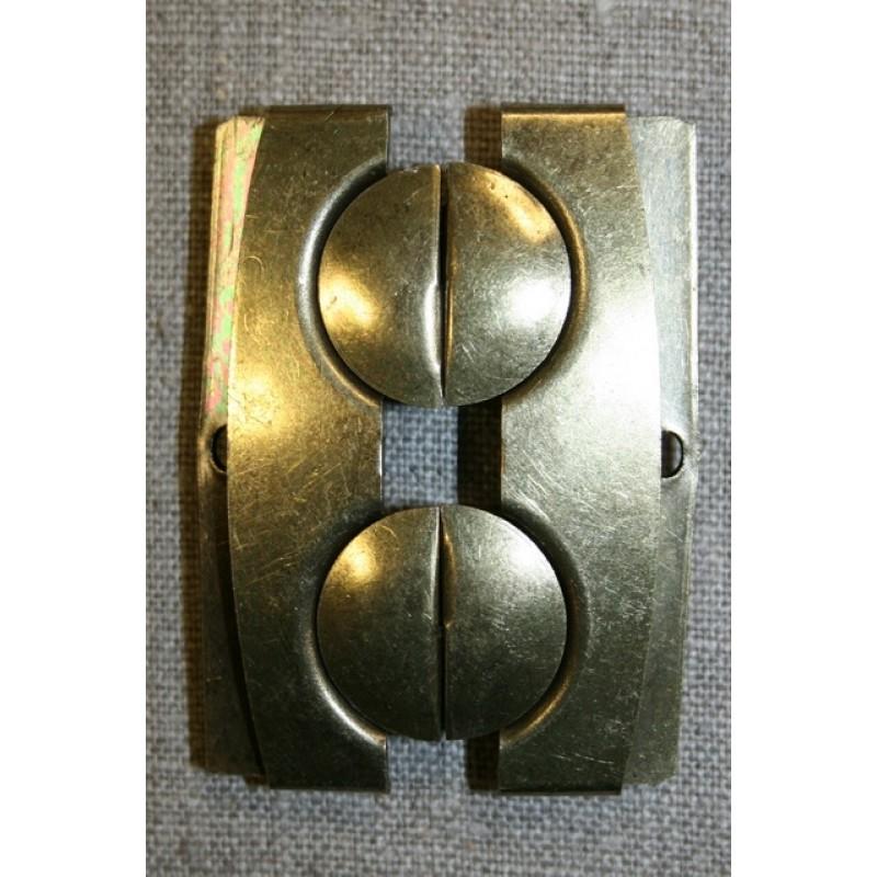 60 mm. spænde til elastikbælter, gl.guld-32
