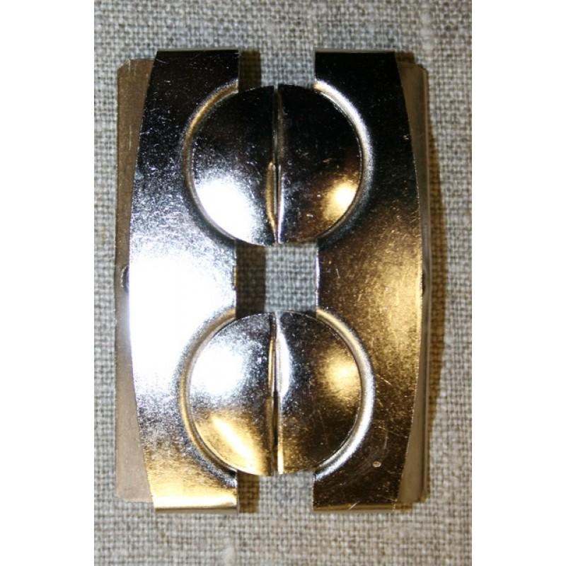60 mm. spænde til elastikbælter, sølv-34