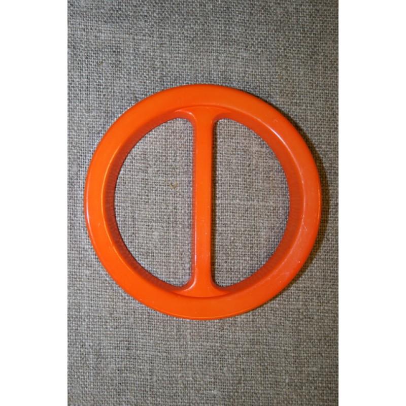 Plast spænde rundt 50 mm. orange