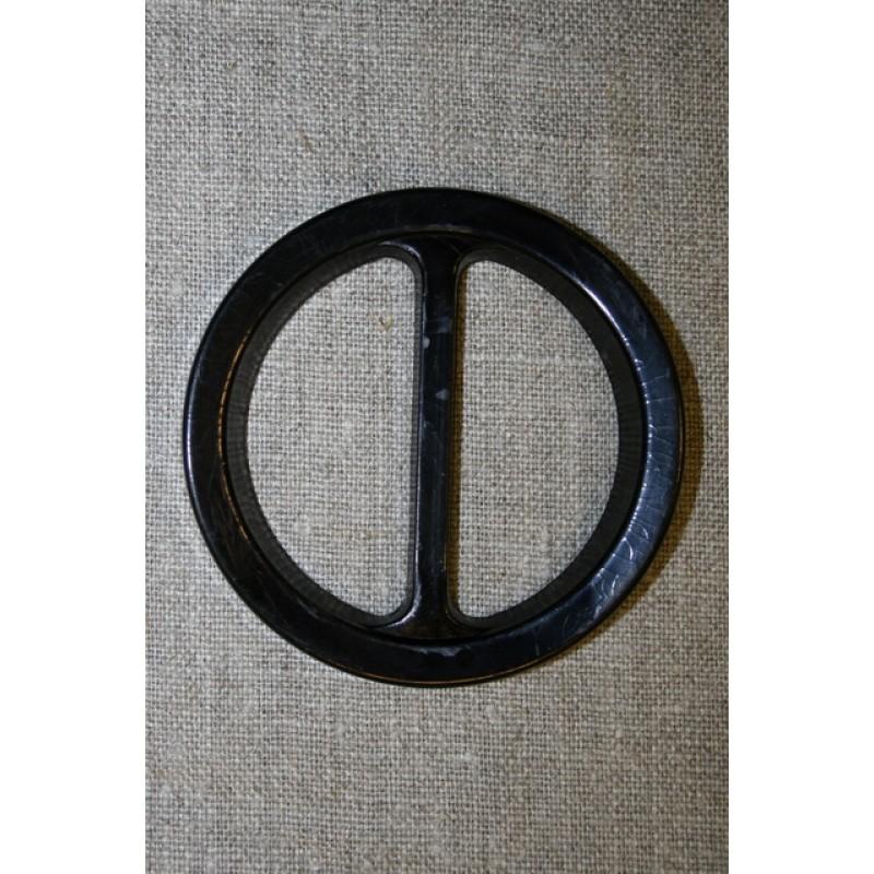 Plast spænde rundt 50 mm. sort-35