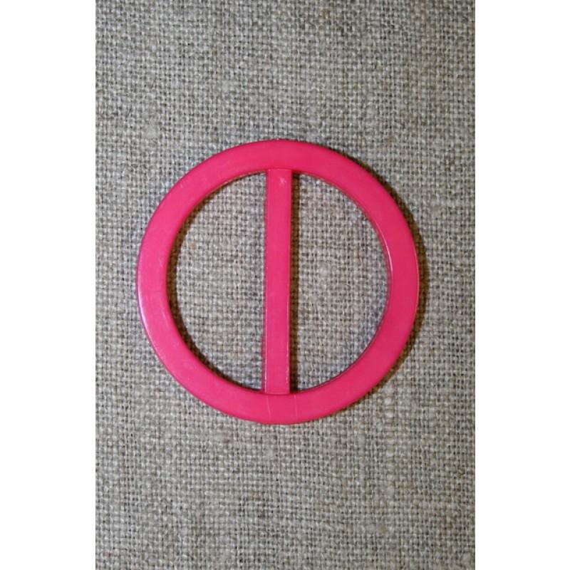 Plast spænde rundt 30 mm. pink