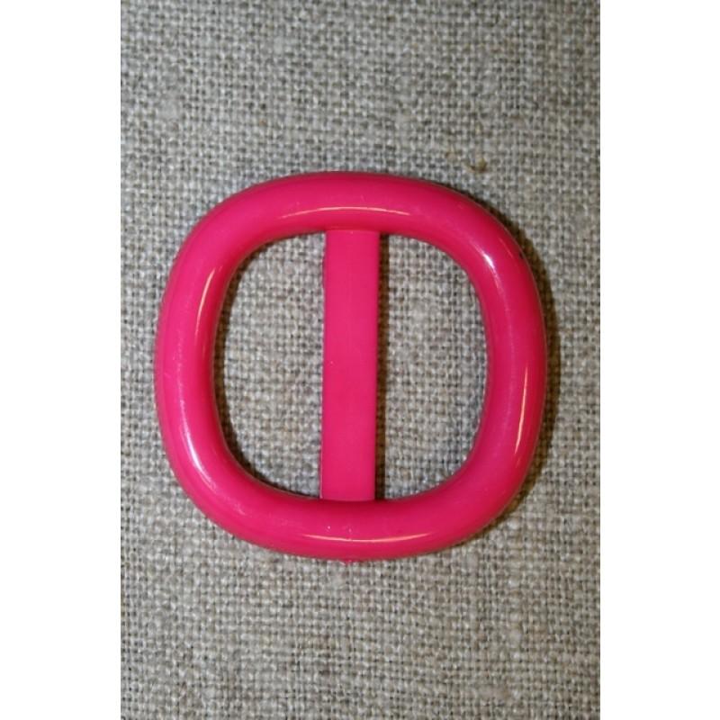 Plast spænde m/afrundede hjørner 25 mm. pink-36