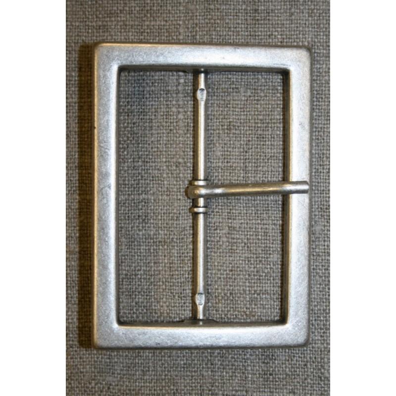 Spænde med dorn, gl.sølv 60 mm.