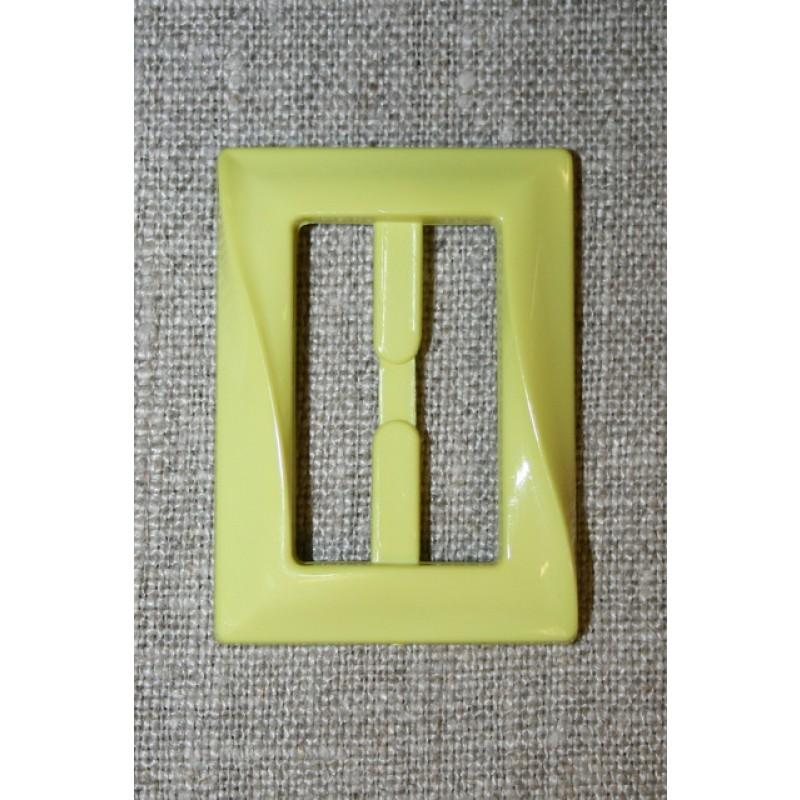 Plast spænde aflang 30 mm. lys lime-35