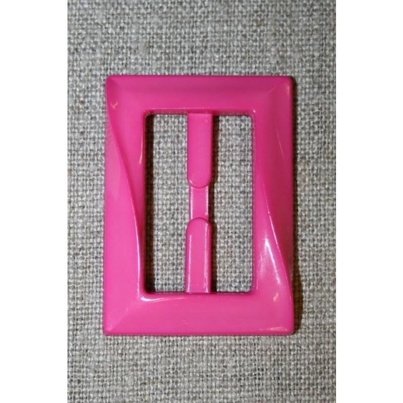 Plast spænde aflang 30 mm. pink