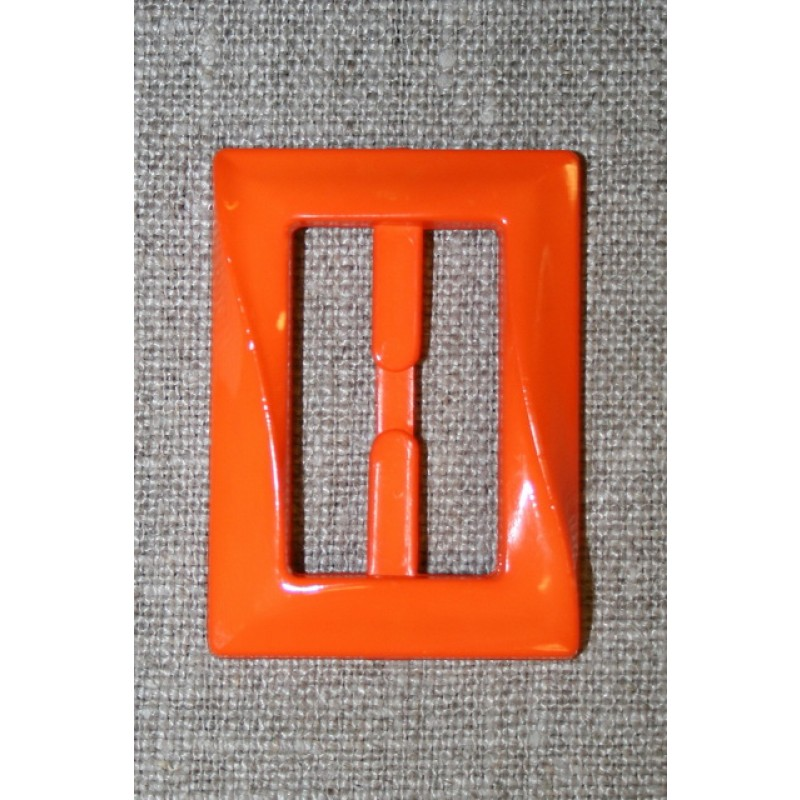 Plast spænde aflang 30 mm. orange