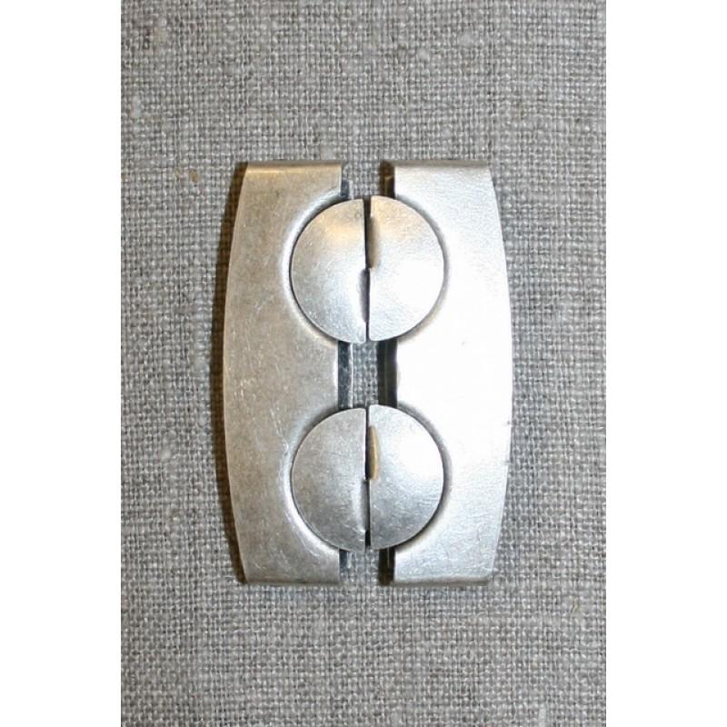 50 mm. spænde til elastikbælter, gl.sølv-35