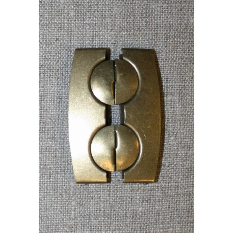 50 mm. spænde til elastikbælter, gl.guld-31