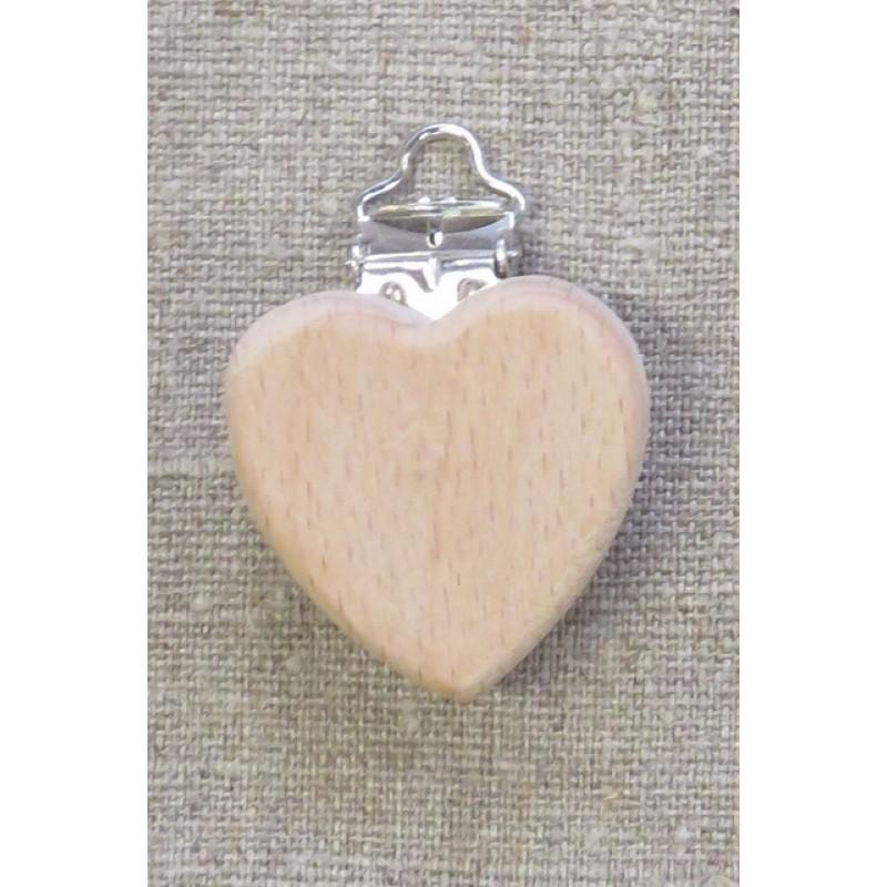 Træ seleclips hjerte-34