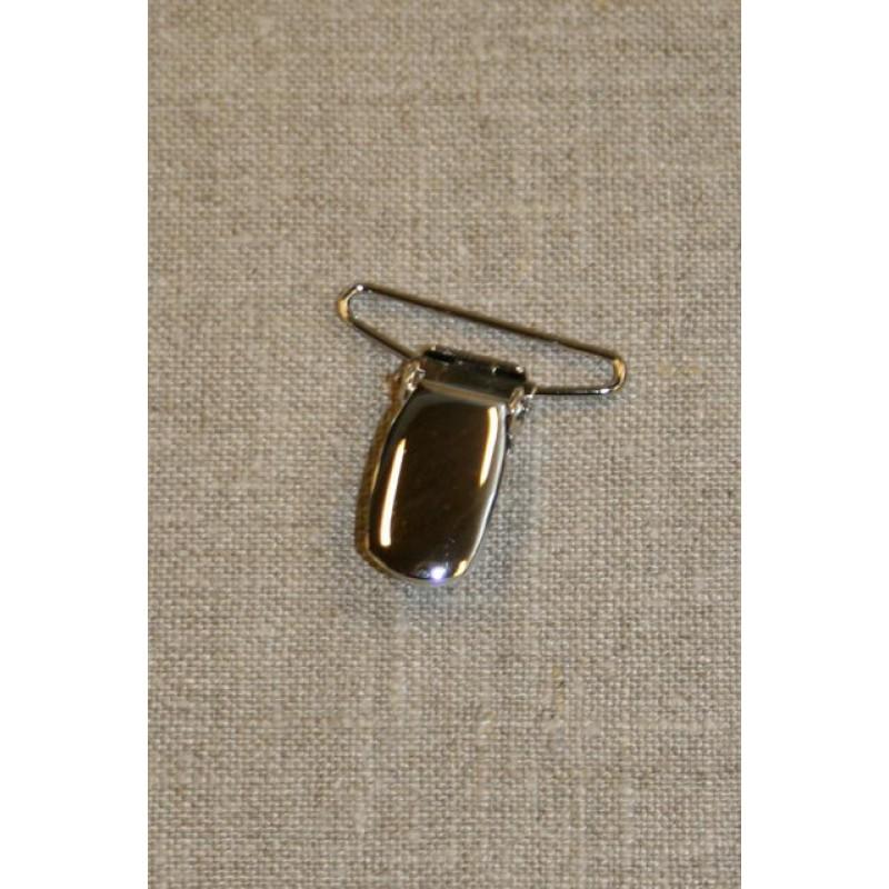 Seleclips i sølv 30 mm.