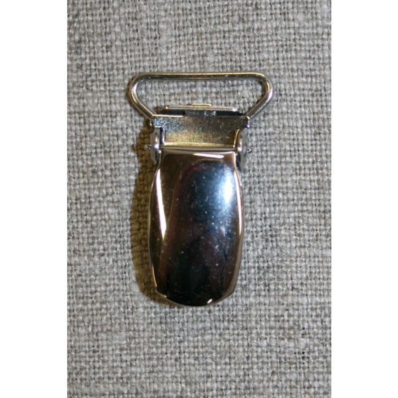 Seleclips i sølv 18 mm.