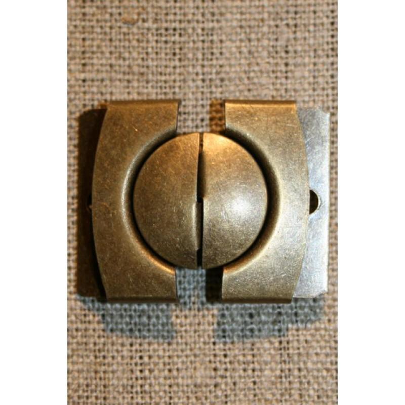 30 mm. spænde til bælter, gl.guld-31