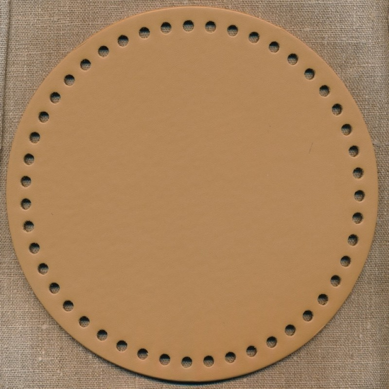 Taskebund i nappa, 20 cm. i lys brun
