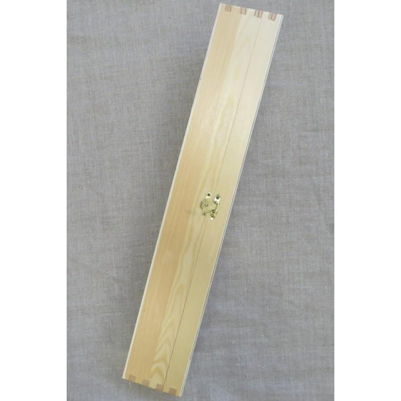 Strikkepindeæske i lyst træ 42x31 cm.-02