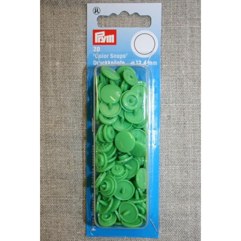 Plast-trykknap rund, lysegrøn-35