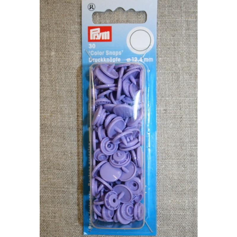 Plast-trykknap rund, lyselilla-35