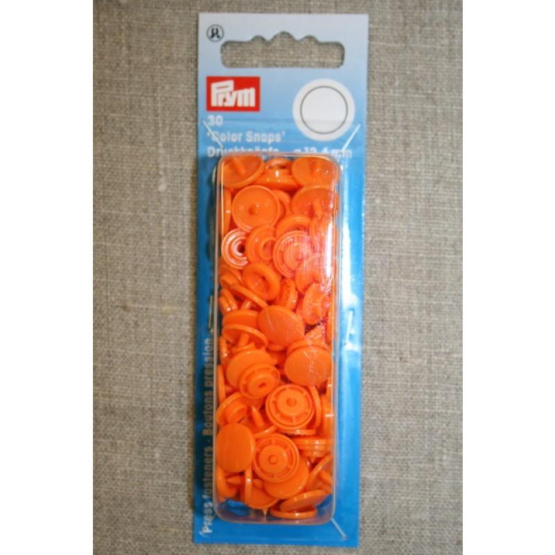 Plast-trykknap rund, orange