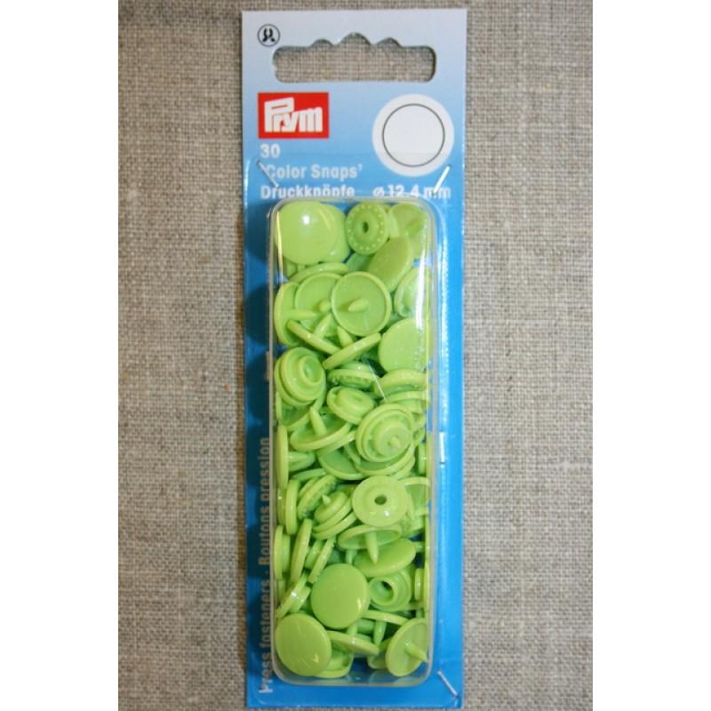 Plast-trykknap rund, lys lime-35